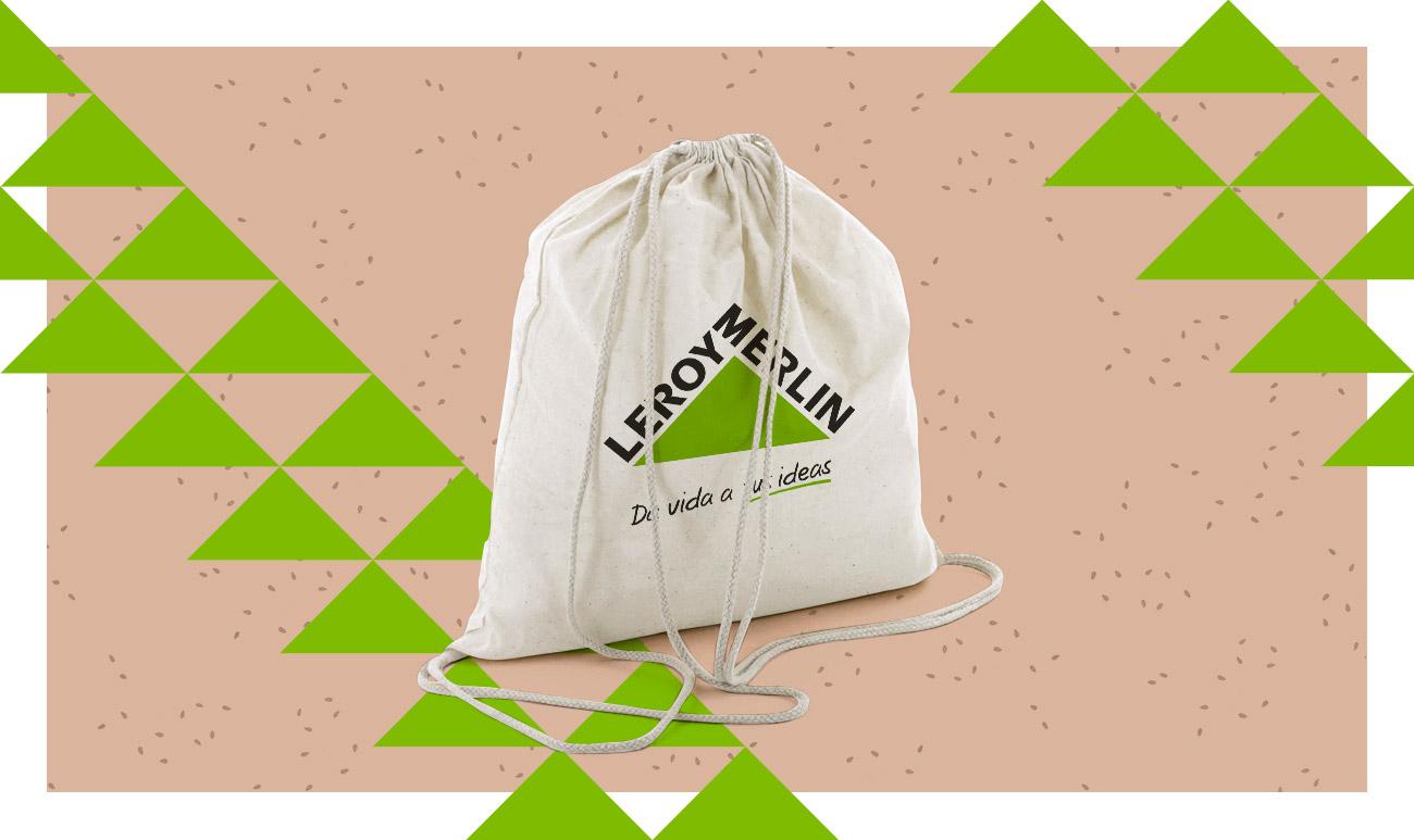 Bolsa incluida en Welcome Pack para Leroy Merlin desarrollado por Ugedafita