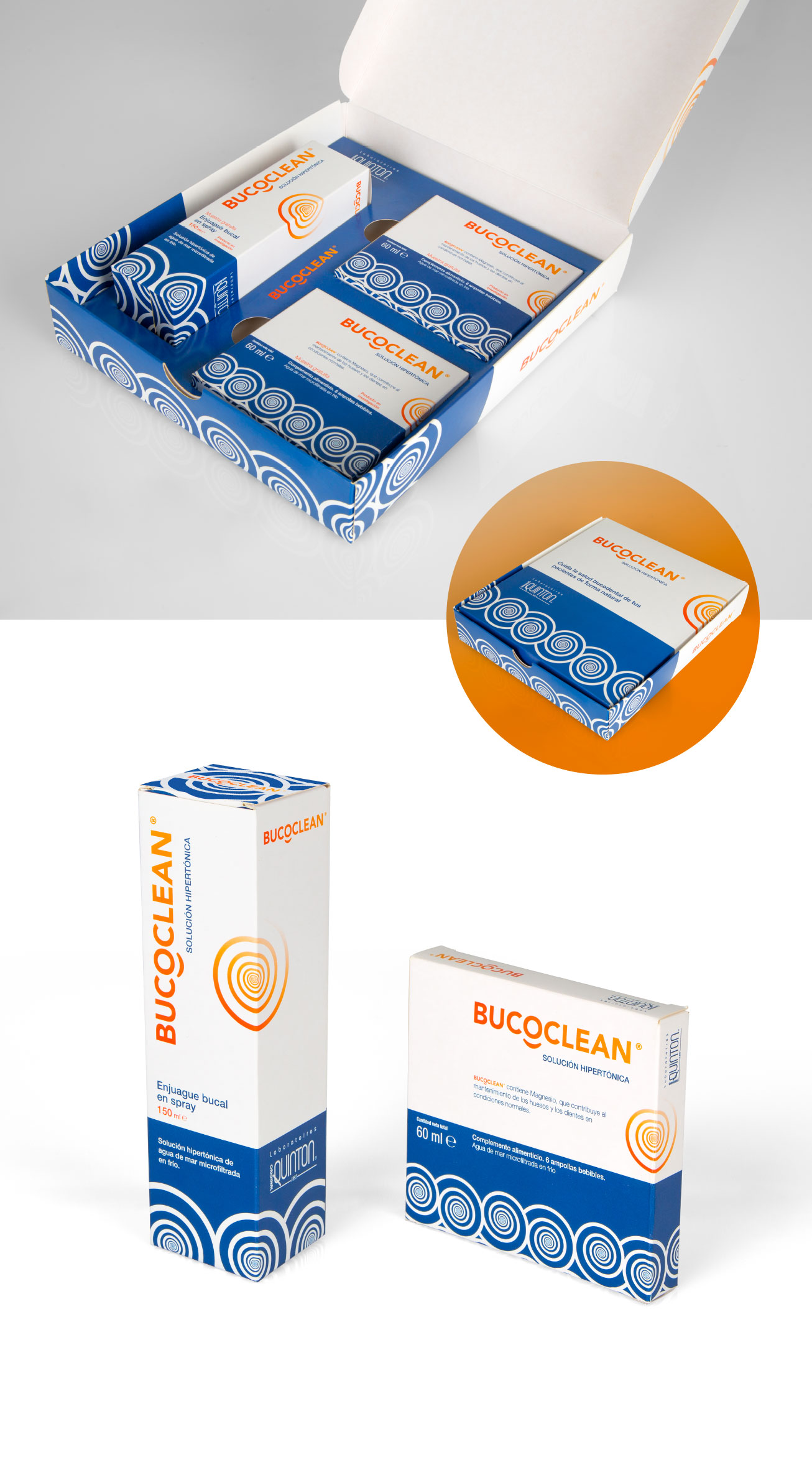 Branding y packaging Bucoclean - Laboratorios Quinton
