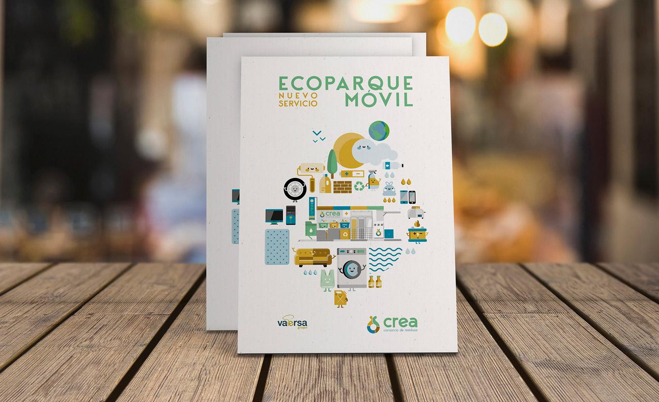 Díptico Ecoparque móvil Consorcio CREA - Vaersa