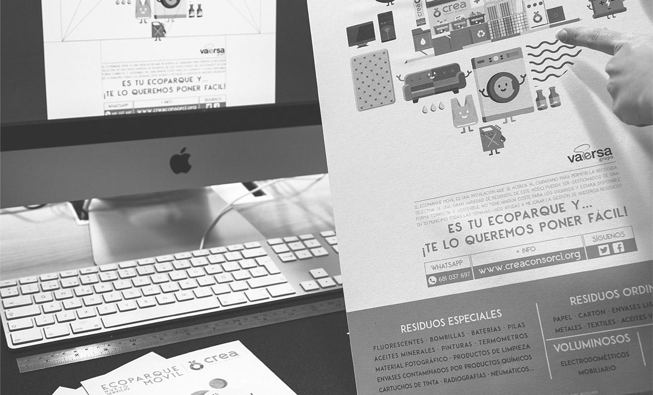 Proyecto campaña de publicidad Ecoparque móvil Consorcio CREA - Vaersa