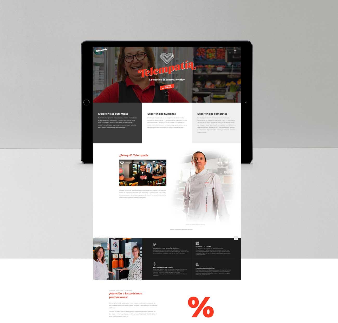 web TELEMPATIA tablet
